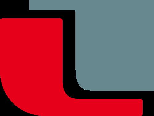 红色字母L矢量logo图标