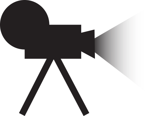 黑色影片播放器矢量logo图标