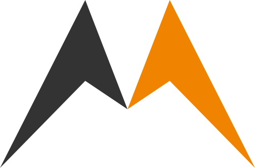 黄色字母M矢量logo图标