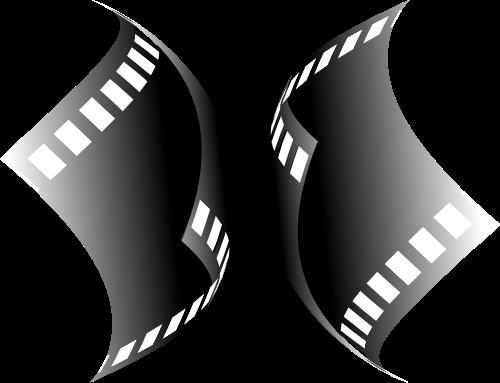 黑色胶片电影矢量logo图标