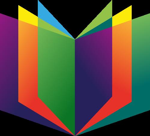 彩色图书矢量logo图标