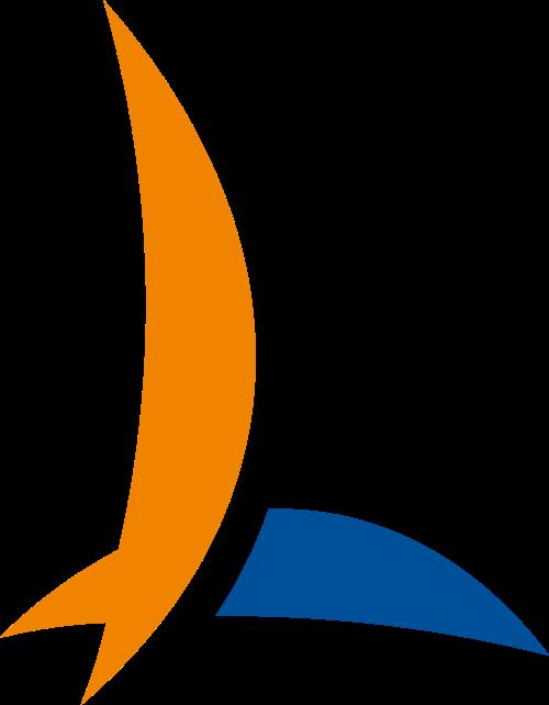 橙色蓝色字母L矢量logo图标矢量logo