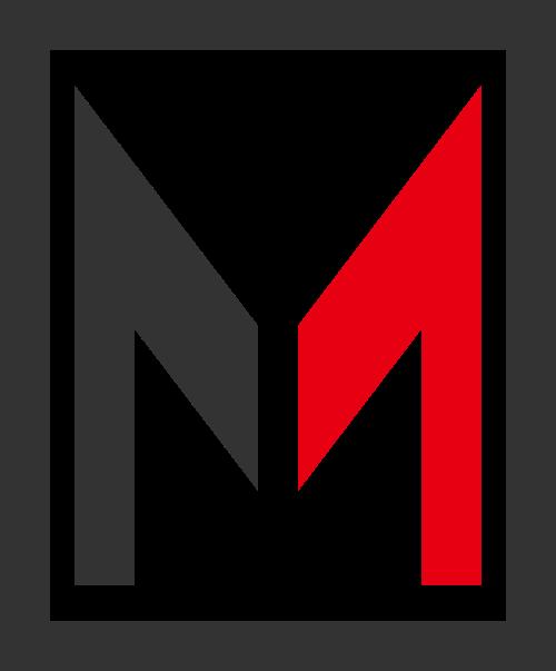 黑色红色字母M矢量logo图标