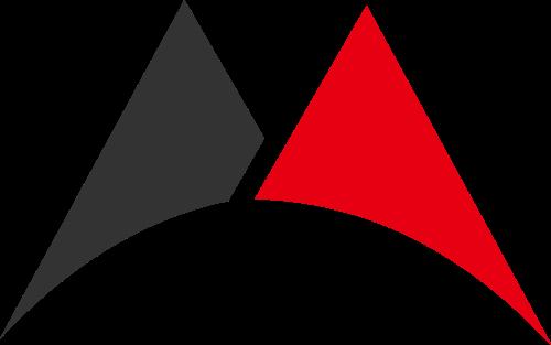 红色黑色字母M矢量logo图标
