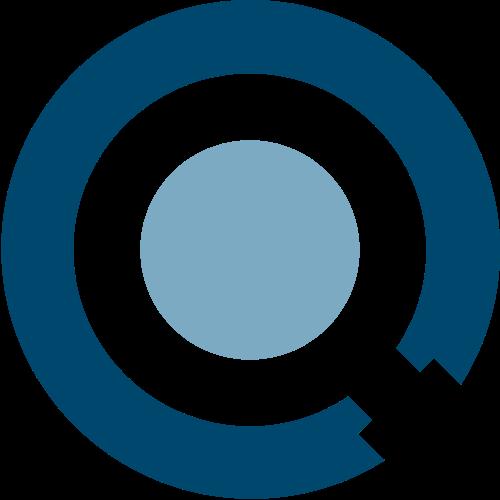 蓝色圆形矢量logo图标