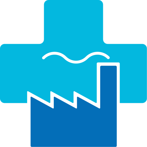 蓝色十字矢量loog图标