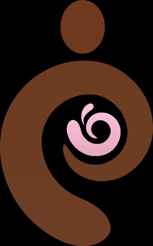 棕色粉色母婴矢量logo图标