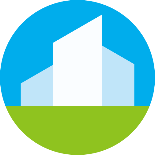 蓝色绿色建筑矢量logo图标