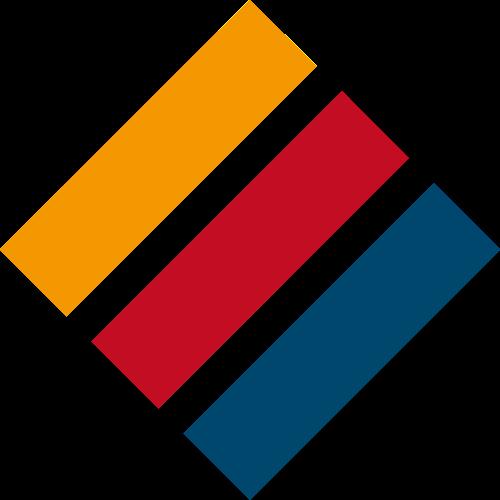 红黄蓝条状矢量logo图标