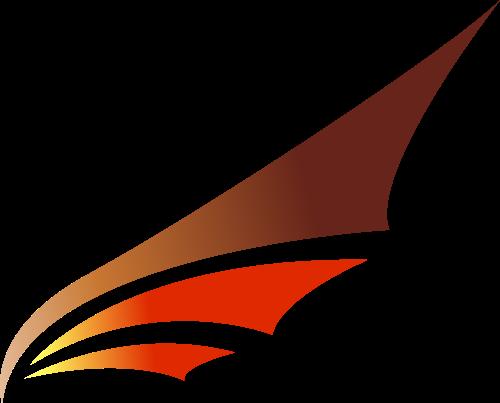 黄色翅膀矢量logo图标