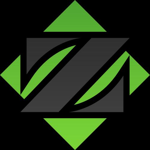 绿色方块字母Z矢量logo图标矢量logo