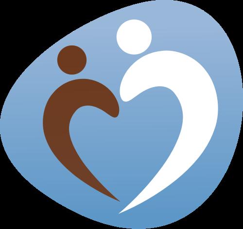 蓝色母婴心形矢量logo图标