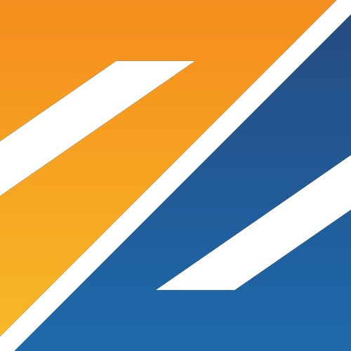 黄色蓝色字母Z矢量logo图标矢量logo