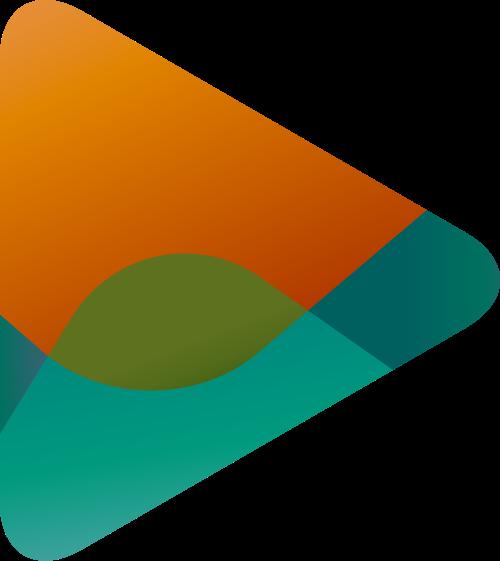 绿色黄色三角矢量logo图标