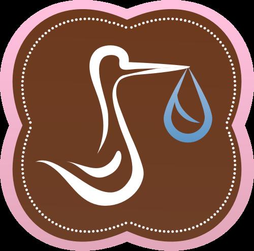 粉色花朵鸭子水矢量logo图标