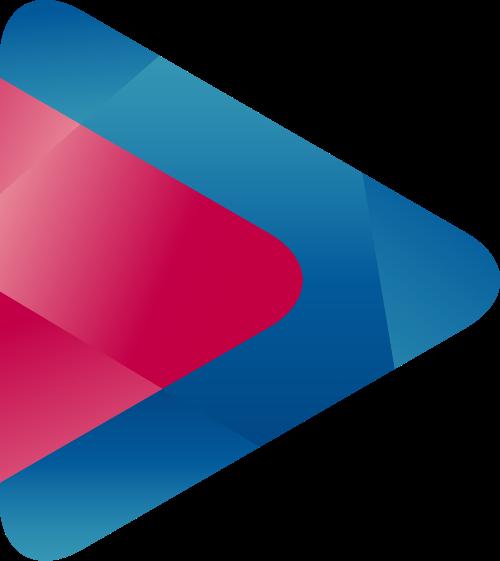 蓝色红色三角矢量logo图标