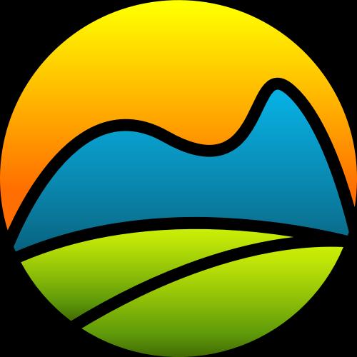 彩色太阳叶子山矢量logo图标