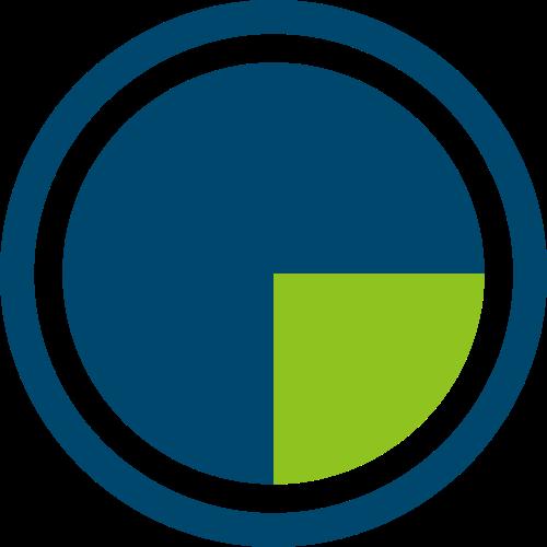 蓝色绿色圆形矢量logo图标