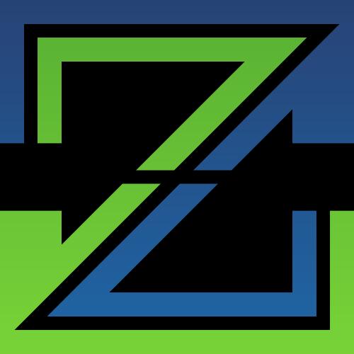 绿色蓝色字母Z矢量logo图标矢量logo