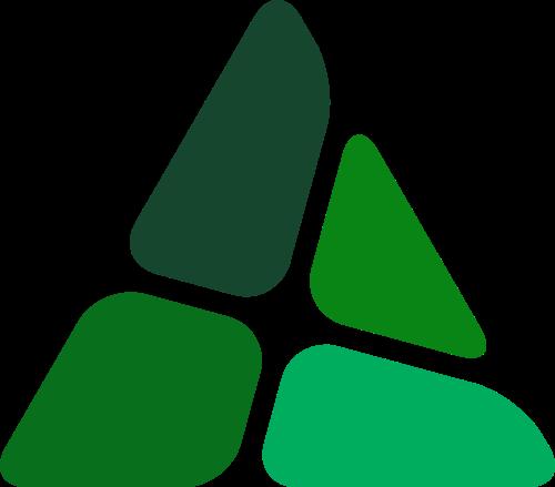 绿色三角矢量logo图标