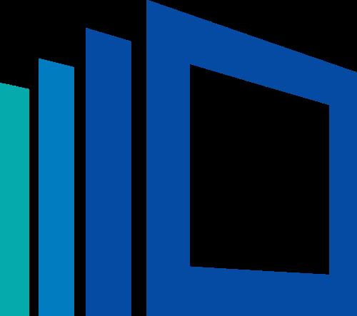 蓝色方形矢量logo图标