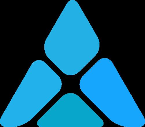 蓝色三角矢量logo图标