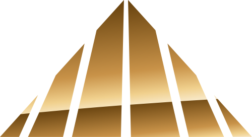 金色三角形矢量logo图标矢量logo