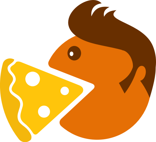 黄色人物头像披萨矢量logo元素