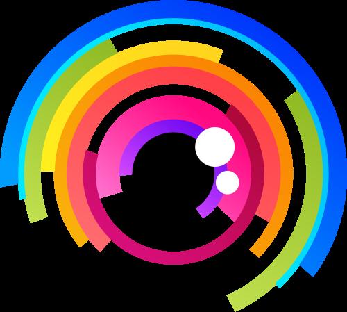 彩色相机矢量logo矢量logo
