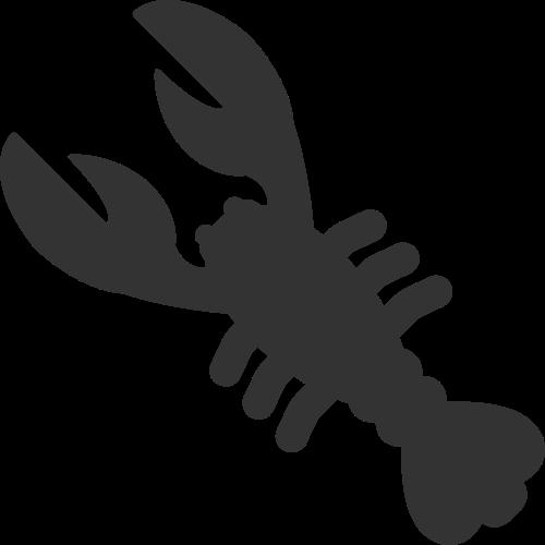 黑色皮皮虾矢量logo图标
