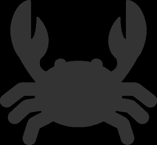 黑色螃蟹矢量logo图片