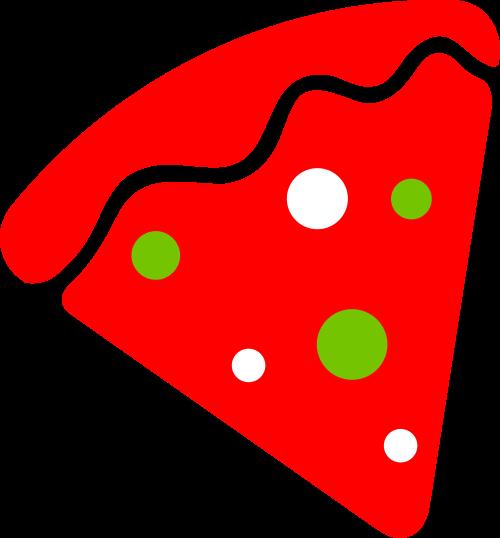 红色披萨矢量logo图标