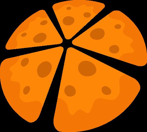 黄色披萨矢量logo元素