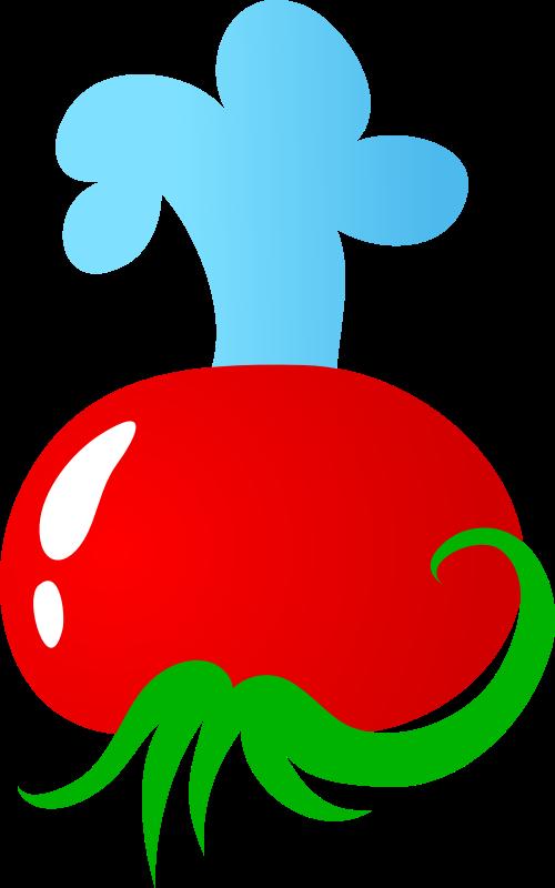 红色西红柿矢量logo