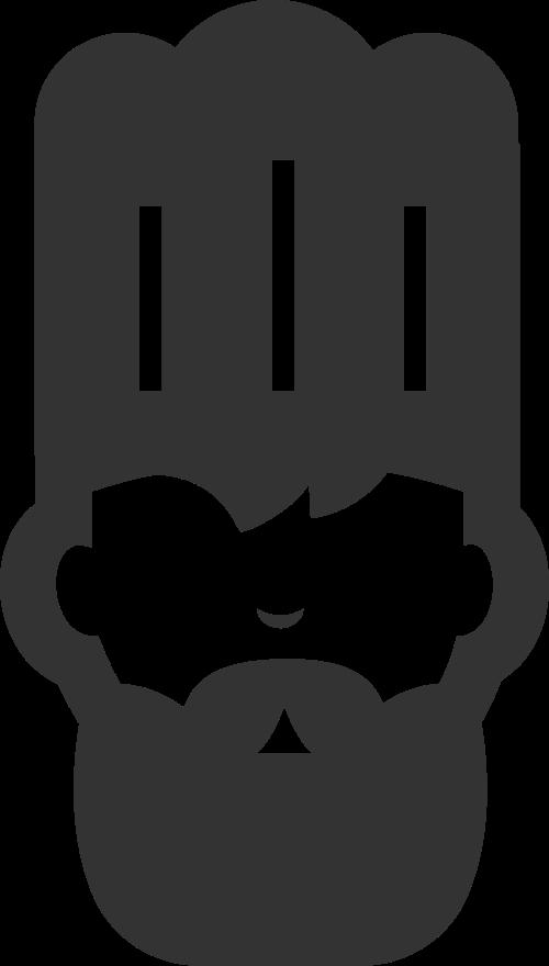 黑色厨师矢量logo图标