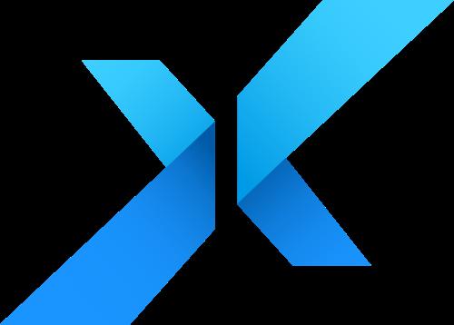 蓝色字母X矢量logo矢量logo