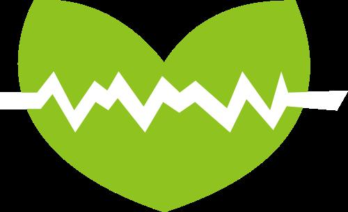 绿色叶子波动矢量logo