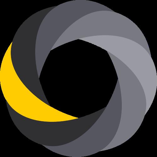 黑色黄色相机矢量logo图标