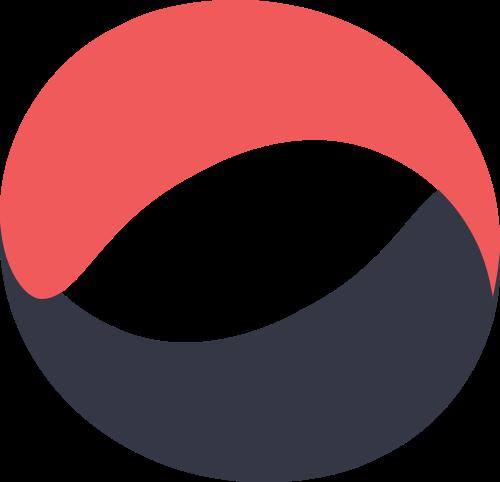 红色黑色圆环矢量logo图标矢量logo