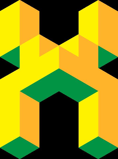 黄色字母X矢量logo矢量logo