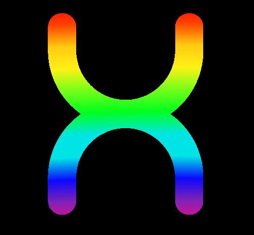 彩色字母X矢量logo图标矢量logo