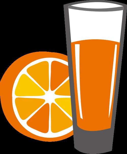 橙色果汁水杯矢量logo图标