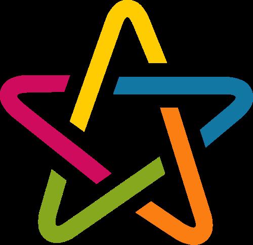 彩色五角星矢量logo图标