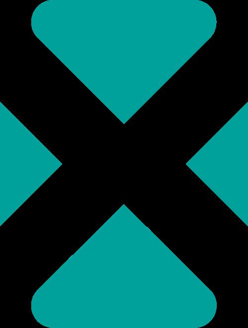 绿色方块字母X矢量logo