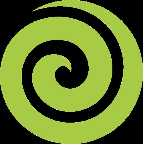 绿色螺旋圆形矢量logo元素矢量logo