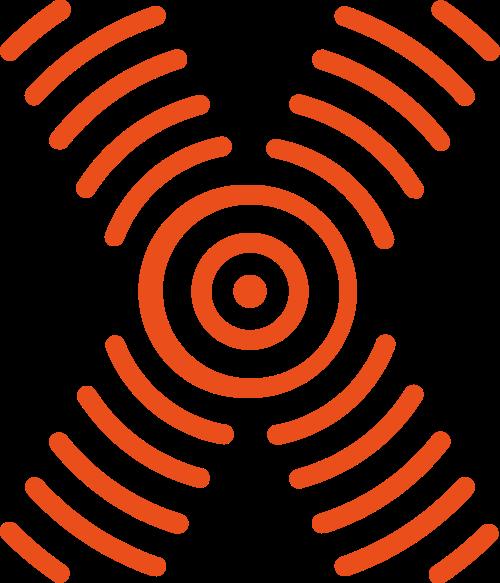 橙色字母X矢量logo图片