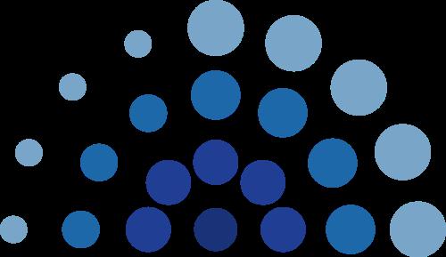 蓝色圆点矢量logo图标