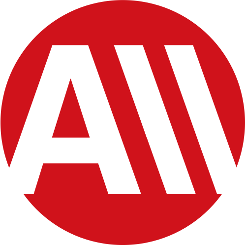 红色圆形字母A矢量logo图标