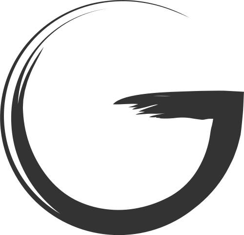 黑色笔墨字母G矢量logo图片