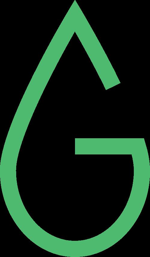 绿色水滴字母G矢量logo图标